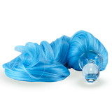 Pony Tail Plug blue with Glass Plug Detachable