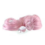 Pony Tail Plug Pink with Glass Plug Detachable