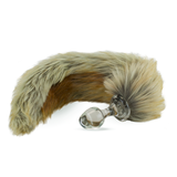Faux Fur Tail Red Fox with Glass Plug